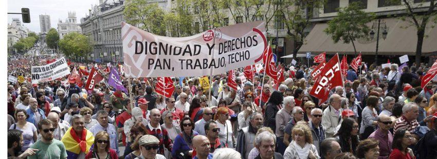 Manifestación del 1º de Mayo de 2015 en Madrid