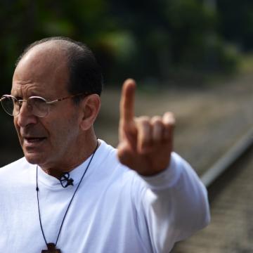 El defensor de los derechos de los migrantes en México Alejandro Solalinde
