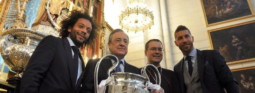 El Real Madrid ofrece la 13ª Copa de Europa en La Almudena