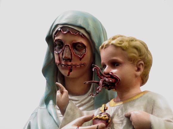 Madonna de los chapman para el blog de Fernando Vidal, pero esta vez en detalle