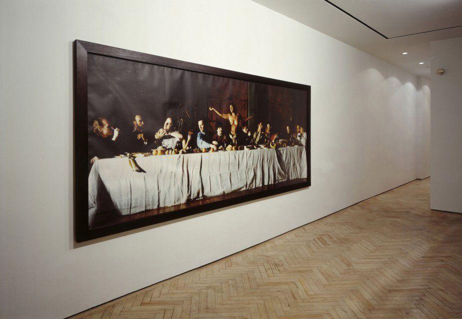 cuadro de sam taylor-wood, esta vez foto del mismo expuesto en algun sitio indeterminado. para el blog de Fernando Vidal