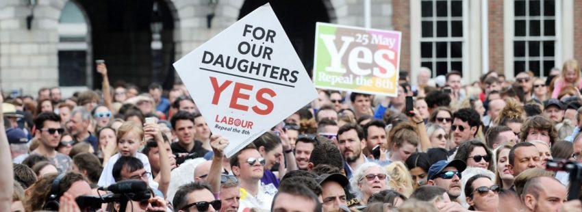 Celebración en Irlanda del Sí a la legalización del aborto en el referéndum