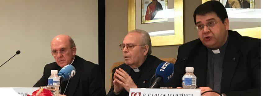 El cardenal claretiano Aquilino Bocos, en rueda de prensa
