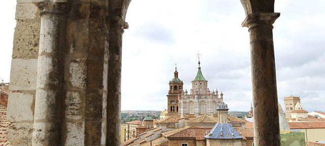 Vista de las torres de la catedral de Teruel