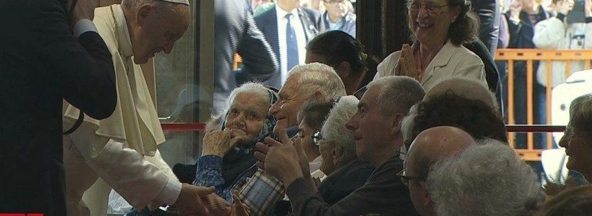 El Papa visita la comunidad de Nomadelfia