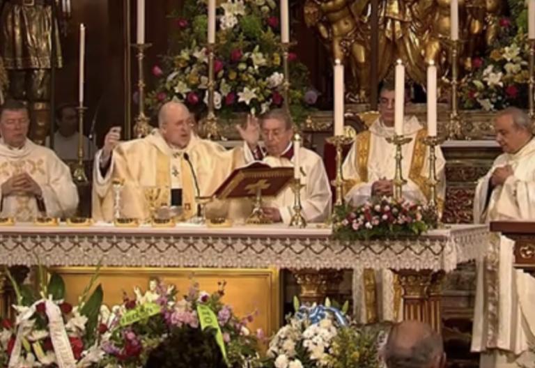 El cardenal Carlos Osoro, en la misa de san Isidro