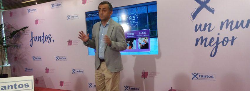 Fernando Giménez Barriocanal en la presnetación de la Memoria de actividades 2016 en Añastro el 14 de junio de 2018