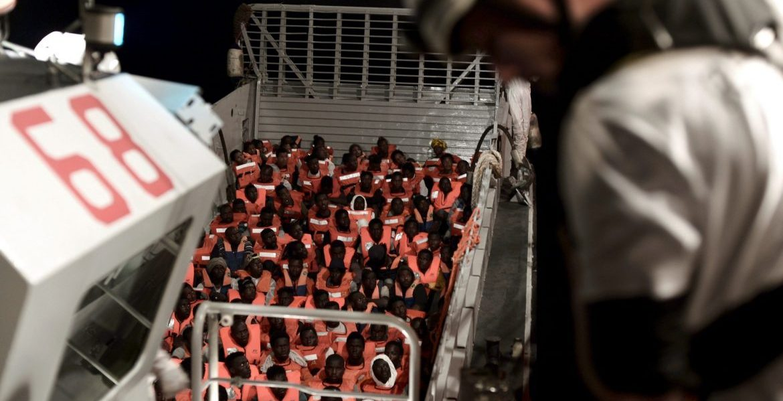 Inmigrantes rescatados por el buque Aquarius/EFE