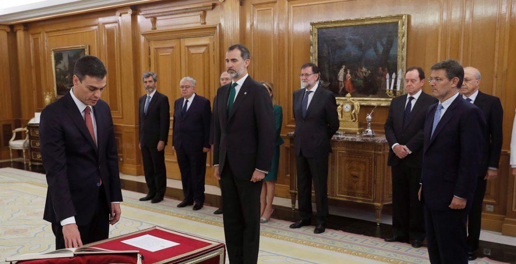 Pedro Sánchez toma posesión cargo presidente del Gobierno 2 junio 2018
