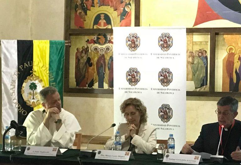 La rectora de la UPSA, en la inauguración de los V Diálogos de Yuste