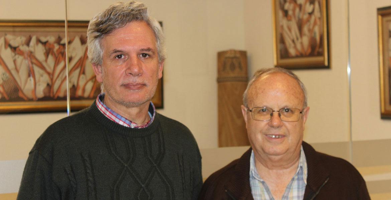Luis Ángel Plaza, nuevo director general del IEME, con el director saliente, José María Rojo (mayo de 2018)