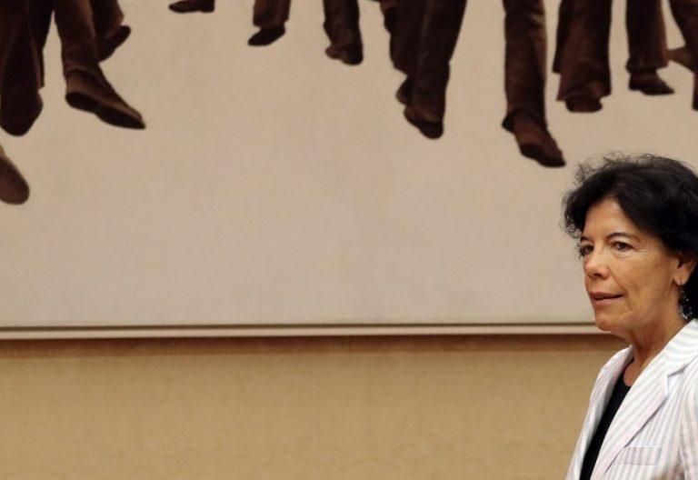 La ministra de Educación, Isabel Celaá, en la Comisión de Educación del Congreso/EFE