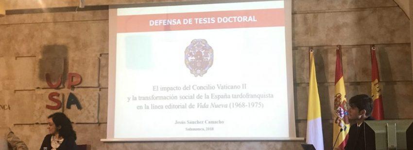 Defensa de la tesis Jesús Sánchez Camacho