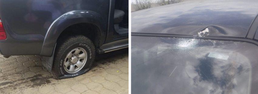 tiroteo contra el coche del obispo Juan Abelardo Mata en Nicaragua