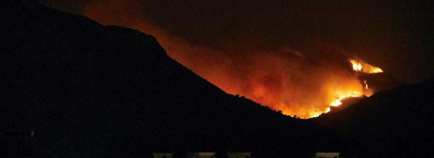 incendio en Llutxent valencia