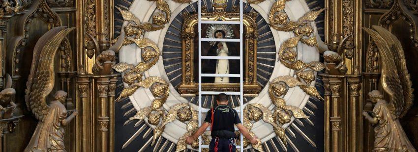 Virgen de la Paloma cuadro desciende en el dia de la asuncion