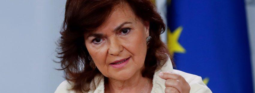 """Carmen Calvo insiste en que el """"sitio de Franco, obviamente"""
