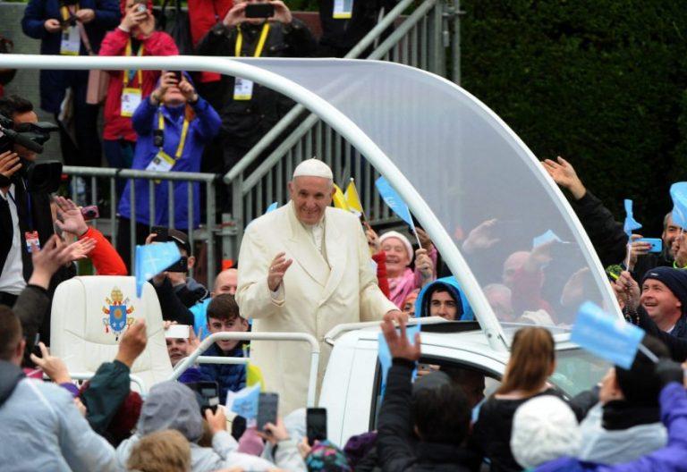 El Papa Francisco, en el santuario de Knock, en Irlanda