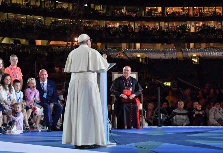 El Papa Francisco, en la vigilia del Encuentro Mundial de las Familias en Dublín