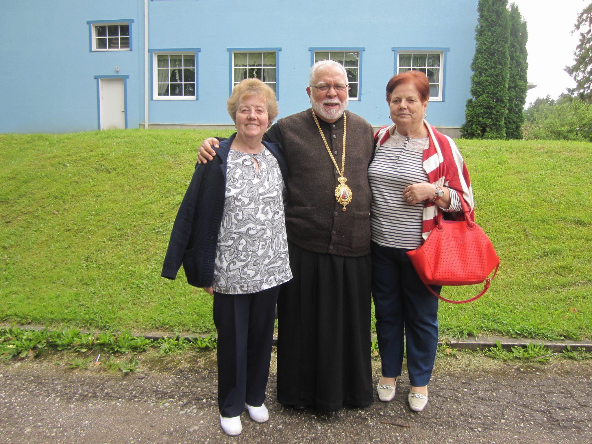 María José Delgado y la hermana Águeda en un encuentro ecuménico en estonia
