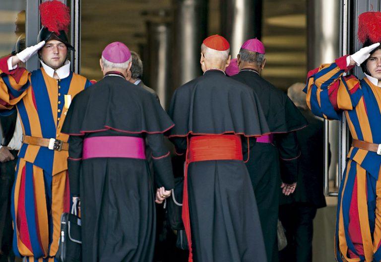 Los cardenales, durante el Sínodo