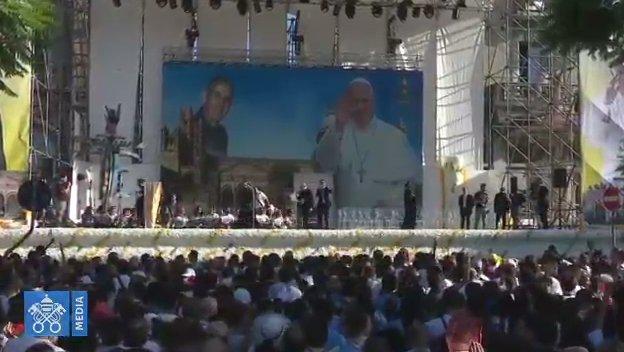 Acto del Papa Francisco con los jóvenes en Palermo el 15 de septiembre de 2018
