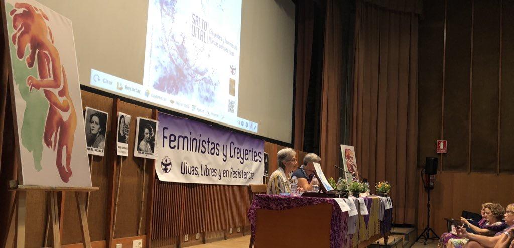 La teóloga Ivone Gebara, en el encuentro celebrado en Zaragoza