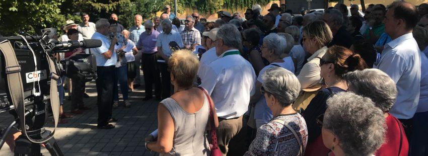 Inauguración de los Jardines Alberto Iniesta en Vallecas