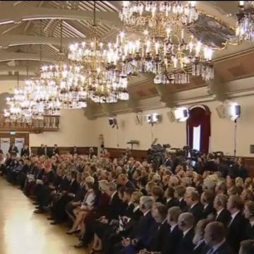 El Papa, en el Palacio Presidencial de Riga/VaticanNews