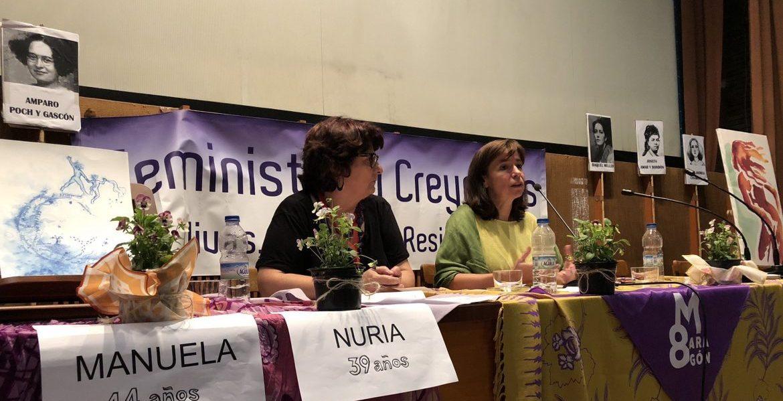 Yayo Herrero y Pepa Torres, en el encuentro sobre teología y mujeres