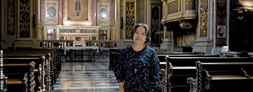 Aurora Torres, superiora general de las Hermanas de María Reparadora
