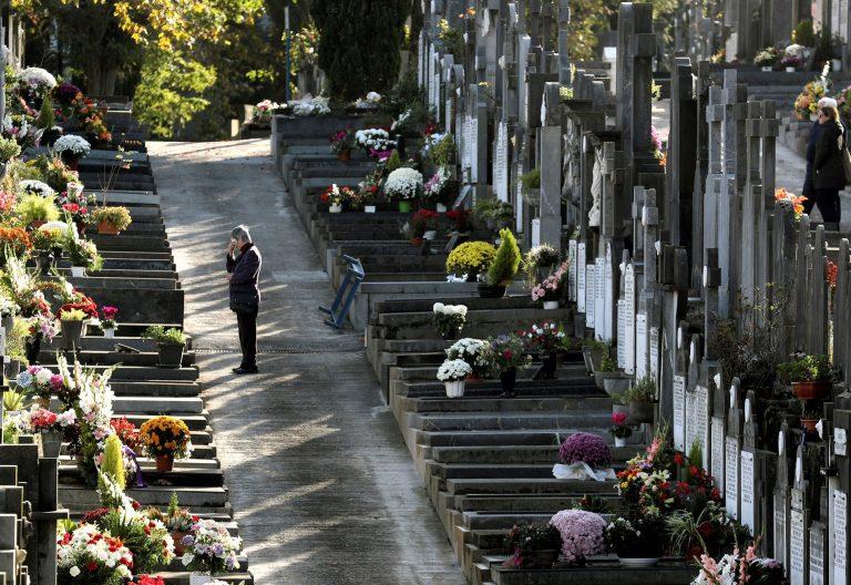 Imagen del cementerio vasco de Polloe