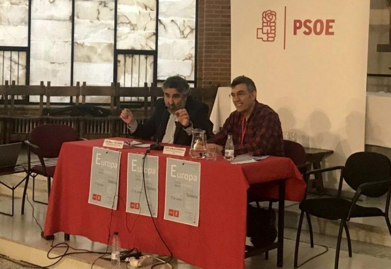 IV Convención de Cristianos Socialistas con el secretario de Laicidad del PSOE, José María Rodríguez Uribes