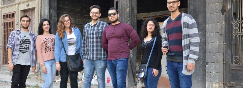 Jóvenes cristianos sirios