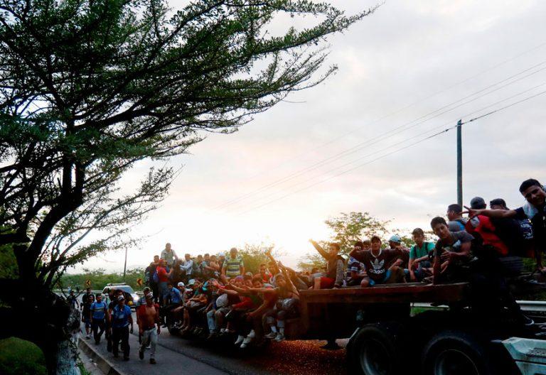 Caravana de Migrantes Hondureños a su paso por Guatemala