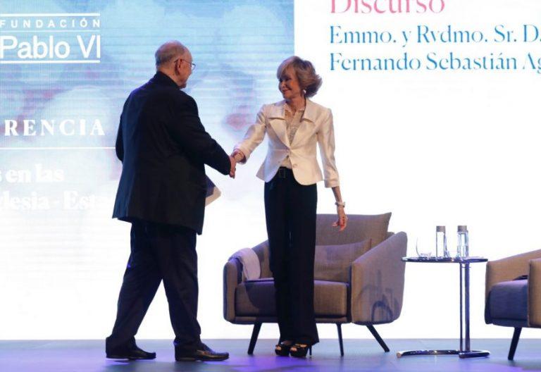 Teresa Fernández de la Vega y Fernando Sebastián en el Congreso Iglesia y Democracia/JESÚS G. FERIA
