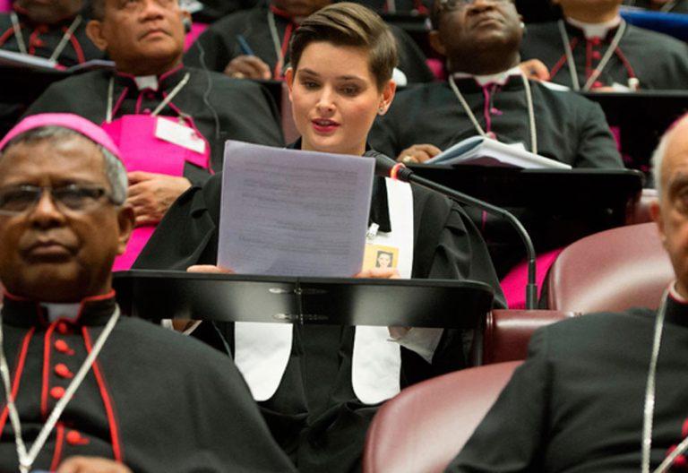 Martina Viktorie Kopecká, sacerdote husita en el Sínodo