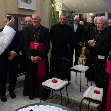 El papa Francisco, con los jesuitas de los países bálticos