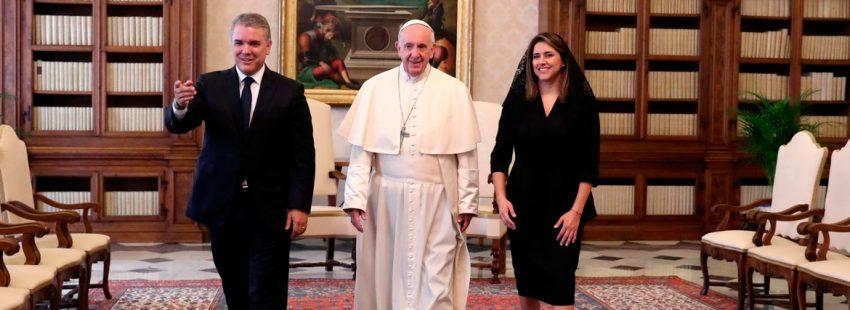 El papa Francisco, en la audiencia con el presidente de Colombia, Iván Duque