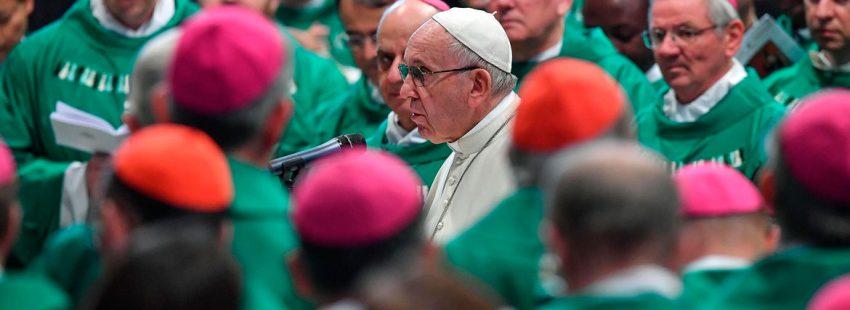 El papa Francisco, en una misa con motivo del Sínodo