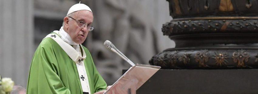 El papa Francisco en la misa de clausura del Sínodo sobre los jóvenes