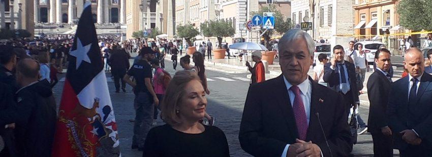Sebastián Pinera, presidente de Chile, en el Vaticano