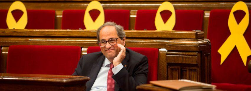 Quim Torra, president de la Generalitat, en el Parlament