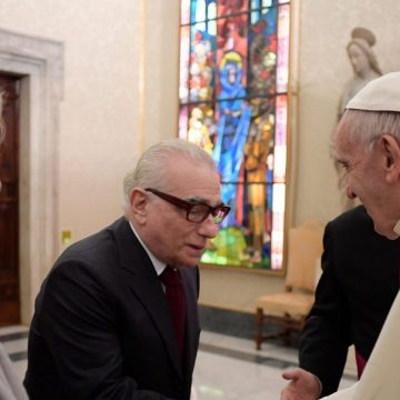 Martin Scorsese, con el Papa Francisco