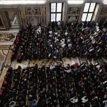 papa francisco con seminarstas el 14 de octubre