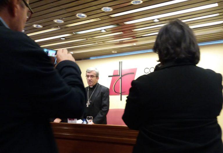 Priemra rueda de orensa de LUis Argüello como secretario general de la CEE el 23 de noviembre de 2018