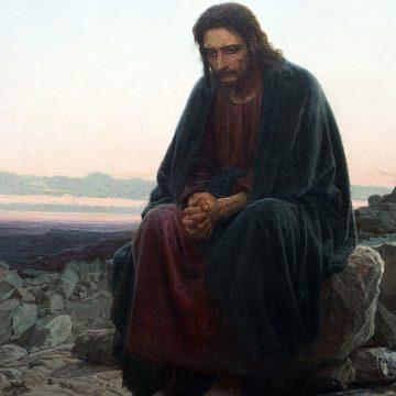 Cristo en el desierto, de Ivan Kramskoy