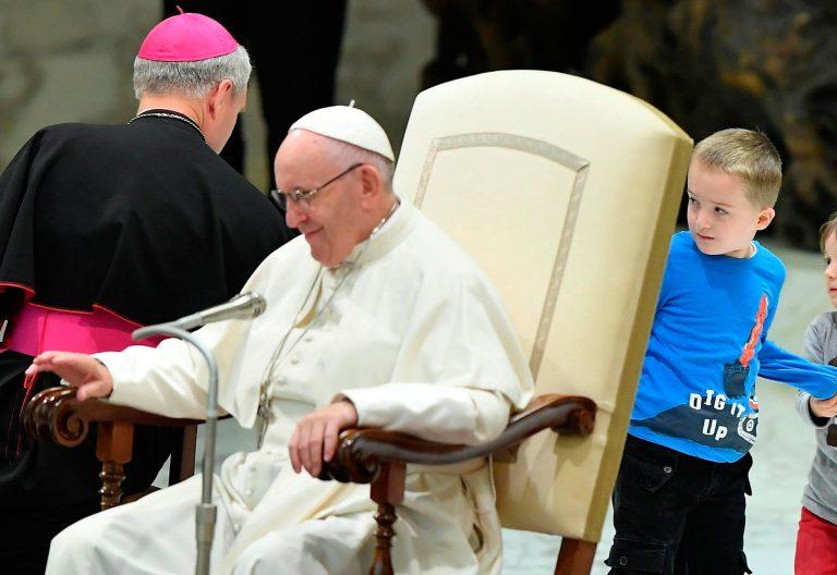 Audiencia general 28 noviembre papa Francisco con niños