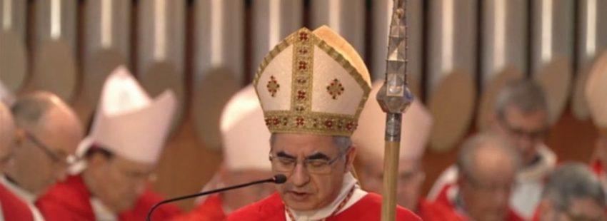 Angelo Becciu preside la misa de beatificación de 16 mártires en la Sagrada Familia de Barcelona