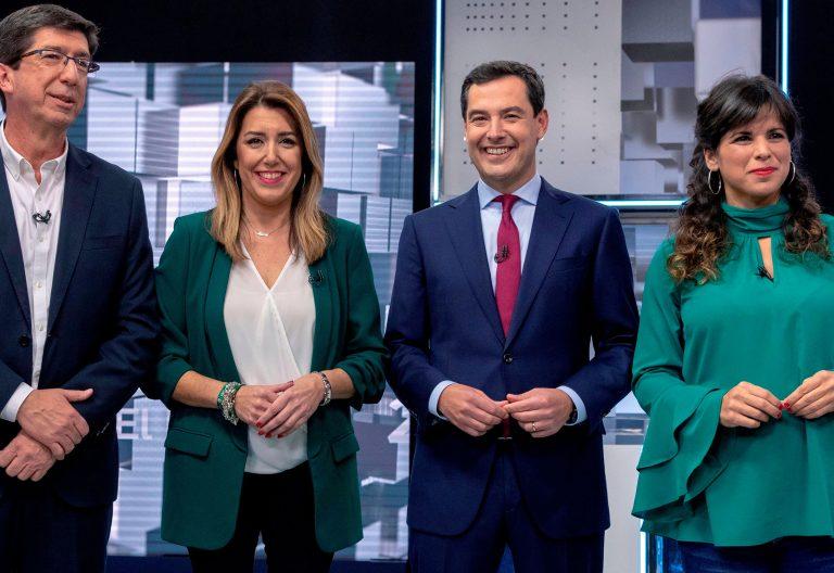 Los representantes políticos que optan a ocupar el Gobierno andaluz en las elecciones del 2 de diciembre de 2018